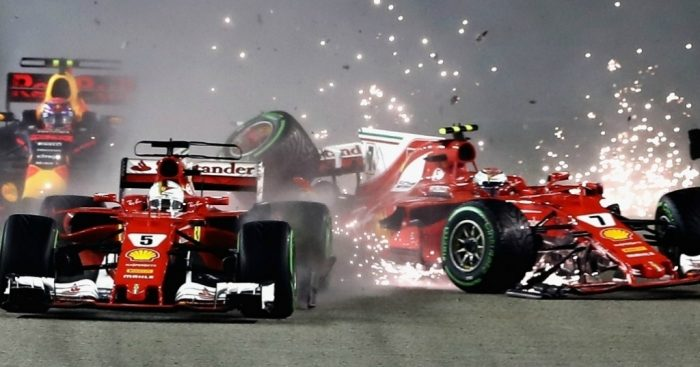 Formula One: Stunning Vettel grabs Singapore pole